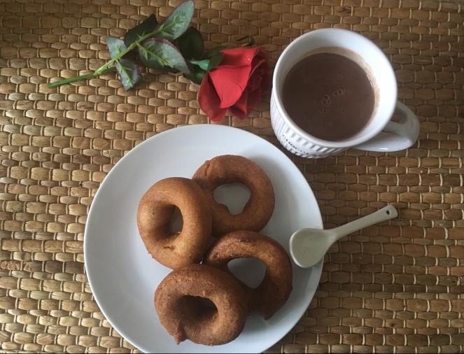 Spanish donut hot chocolate
