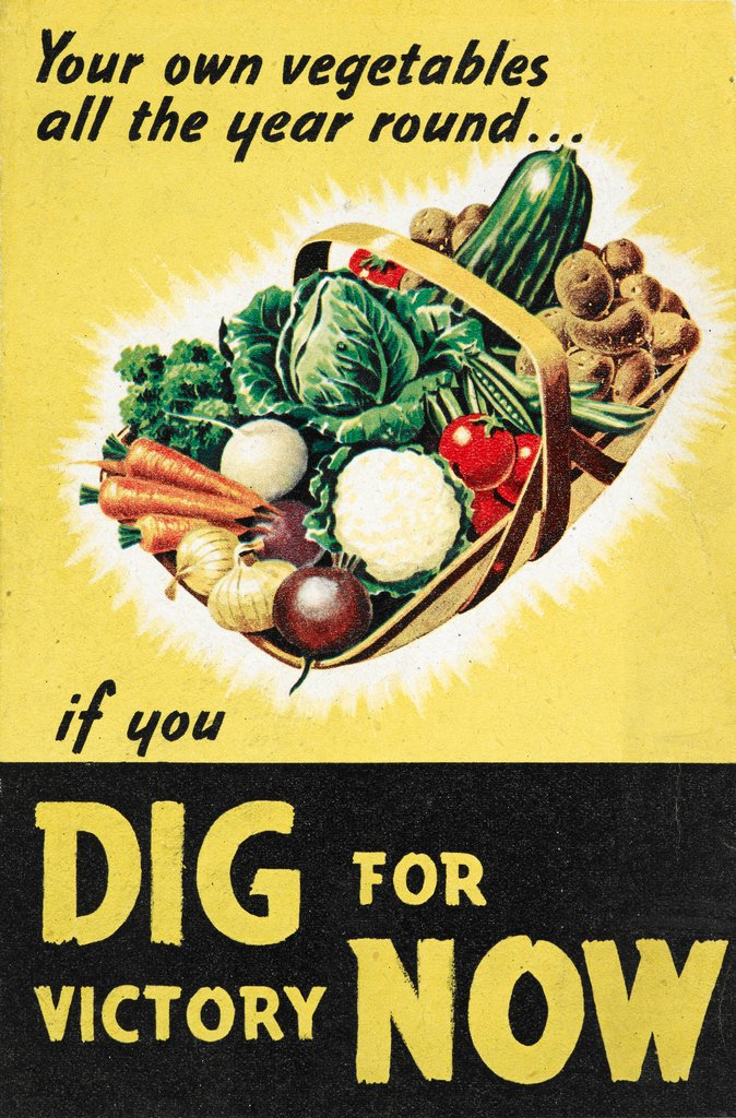 World War II Dig for Victory Propaganda Poster