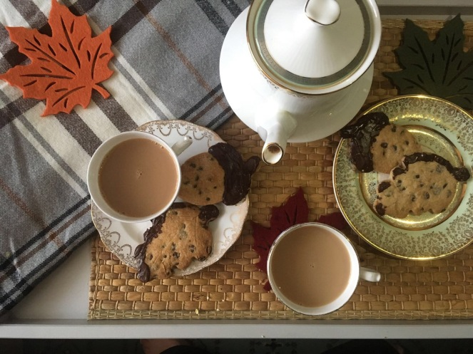 tea biscuits cookies autumn fall chocolate